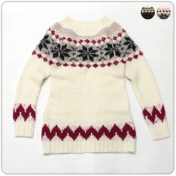 SNOW FLOWER LONG KNIT